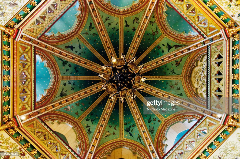 Detail of the 19th-century High Victorian Gothic interior of Castell Coch in South Wales, taken on April 12, 2012.