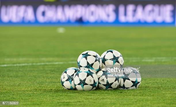 Detail of the Adidas UEFA Champuons League ball during the UEFA Champions League group E match between Sevilla FC and Liverpool FC at Estadio Ramon...