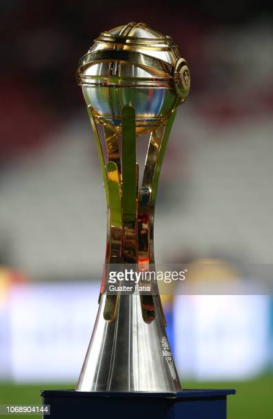 Detail of the Allianz Cup Trophy before the start of the Portuguese League Cup match between SL Benfica and Pacos de Ferreira at Estadio da Luz on...
