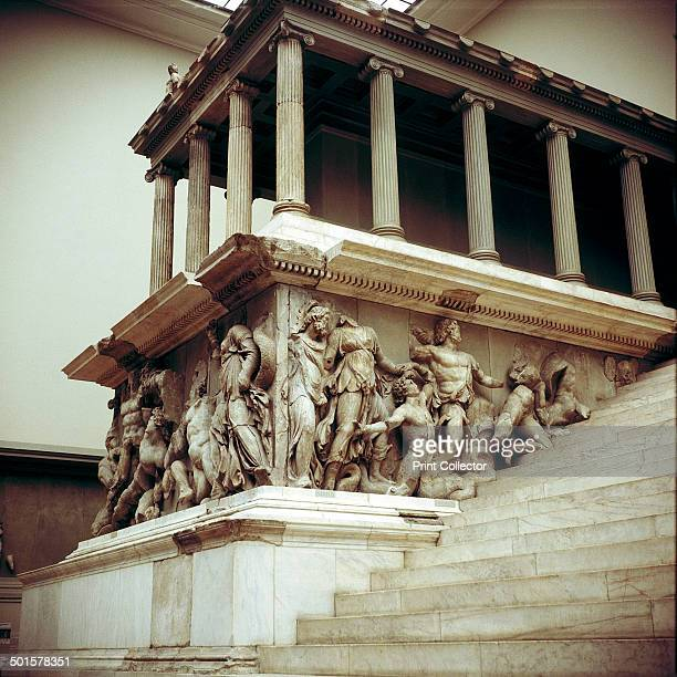 Detail of the Altar of Zeus from Pergamon, c180-c159 BC. In the collection at the Pergamon Museum in Berlin.