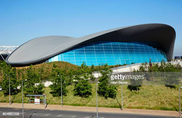 Detail of the aquatics centre in the Olympic Park, London