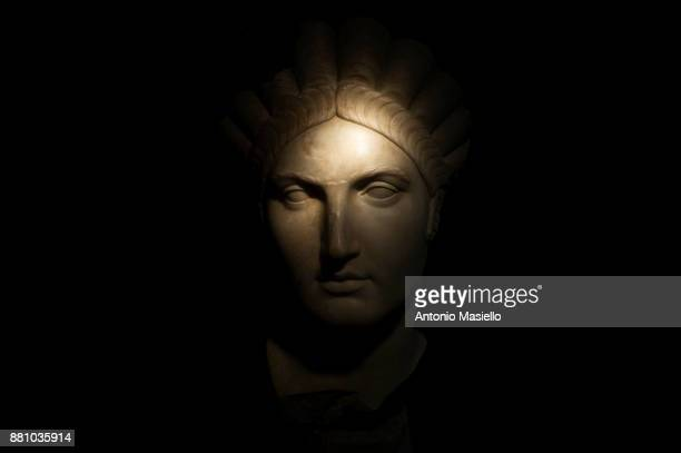 A detail of the archaeological exhibition about roman emperor Trajan opens on November 28 2017 in Rome Italy To celebrate the 1900th anniversary of...