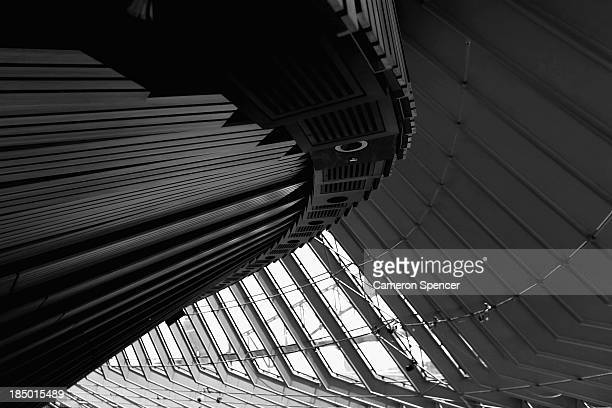 Detail of the architecture on the exterior of the concert hall at the Sydney Opera House on October 17 2013 in Sydney Australia On October 20 2013...