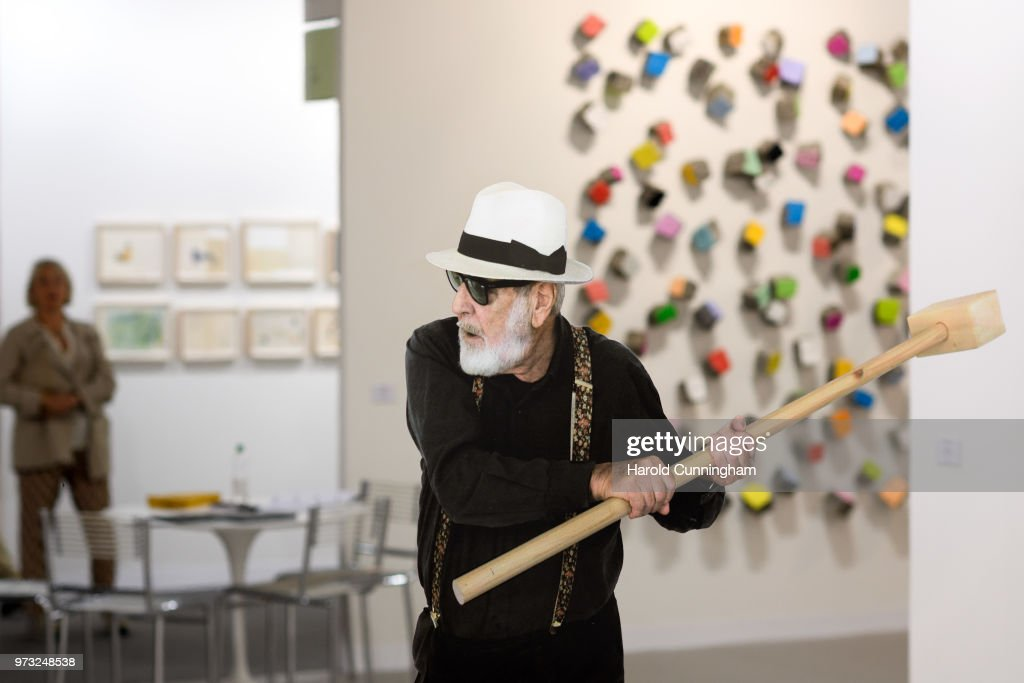 A detail of the artwork of Michelangelo Pistoletto 'Rottura dello specchio' during the press preview for Art Basel at Basel Messe on June 13, 2018 in Basel, Switzerland. Art Basel is one of the most prestigious art fair in the world showcasing the work of more than 4,000 artists selected by 300 leading art galleries.
