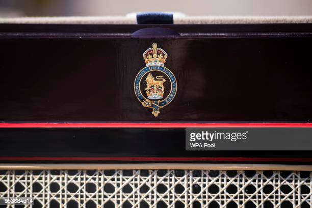 A detail of The Ascot Landau which will be used in the case of dry weather at the wedding of Prince Harry and Meghan Markle at the Royal Mews at...
