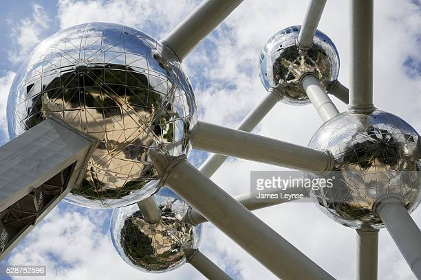 Detail of the Atomium in Brussels The building is an iconic building in Brussels originally constructed for Expo '58 the 1958 Brussels World's Fair...