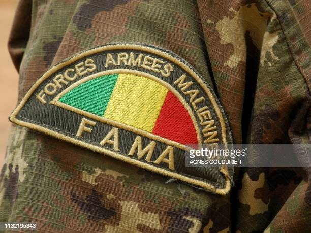 Detail of the badge of a member of the Malian Army in Anderamboukane in Menaka region on March 22 2019