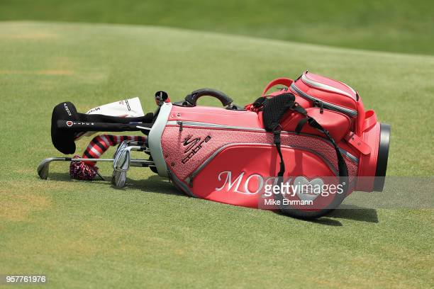 A detail of the bag of Bryson DeChambeau of the United States on the second green during the third round of THE PLAYERS Championship on the Stadium...