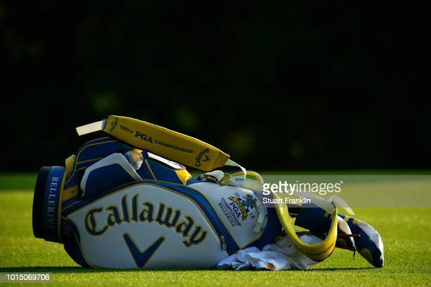 A detail of the bag of Danny Willett of England during the continuation of the weather delayed second round of the 2018 PGA Championship at Bellerive...