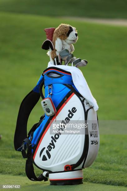 A detail of the bag of Rory McIlroy of Northern Ireland during the proam prior to the Abu Dhabi HSBC Golf Championship at Abu Dhabi Golf Club on...