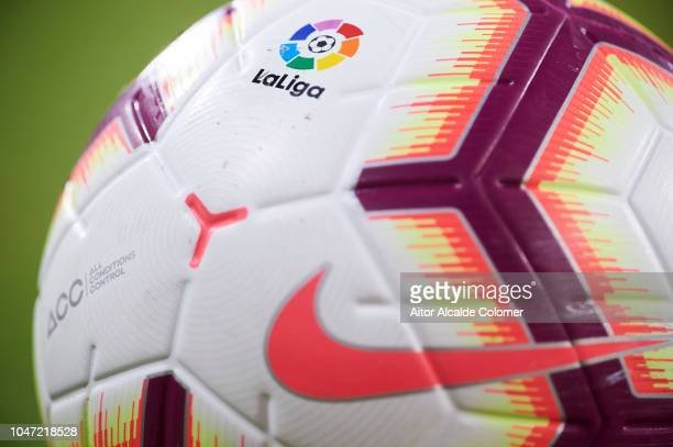 Detail of the ball during the La Liga match between Sevilla FC and RC Celta de Vigo at Estadio Ramon Sanchez Pizjuan on October 7 2018 in Seville...