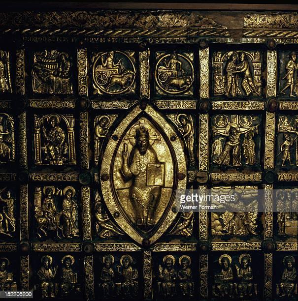 Detail of the Broddetorp Golden Altar carved with biblical motives Sweden Christian 1160 1190 AD Place of OriginBroddetorp
