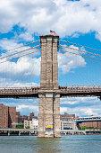 detail brooklyn bridge new york city
