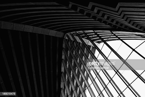 Detail of the ceiling and windows inside the Sydney Opera House on October 17 2013 in Sydney Australia On October 20 2013 the iconic Sydney Opera...