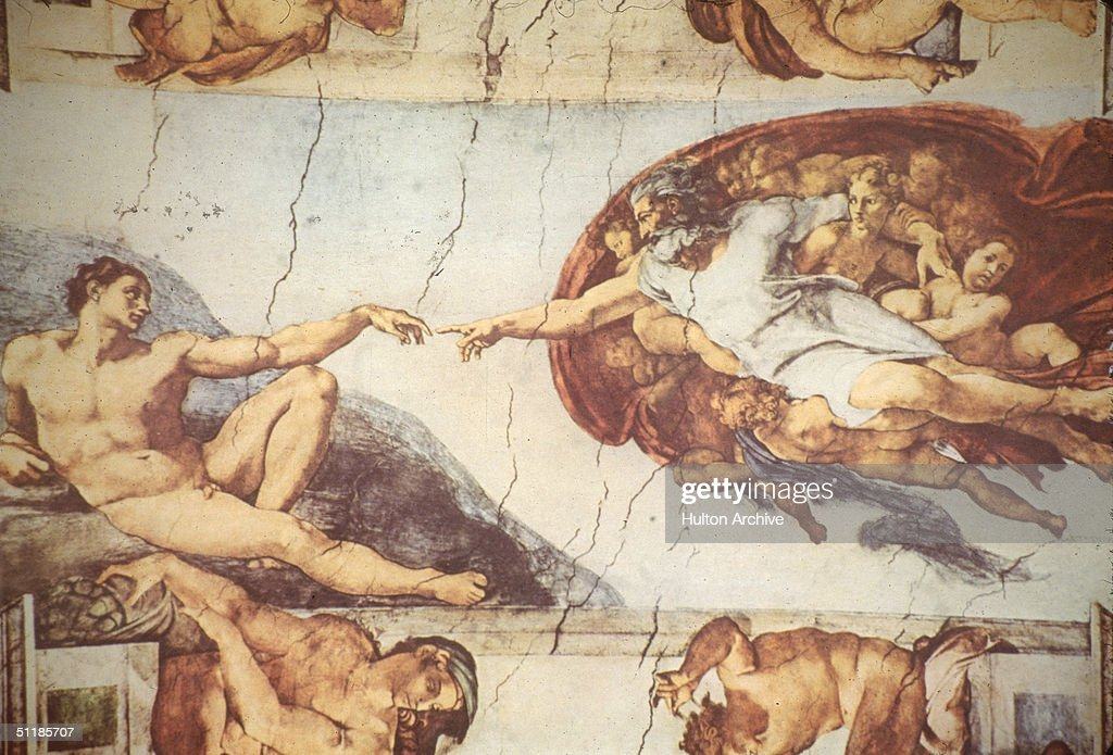 Michelangelo's 'Creation Of Adam' : News Photo
