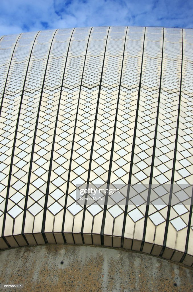 Detail Of The Ceramic Tiles On The Sydney Opera House Sydney New ...