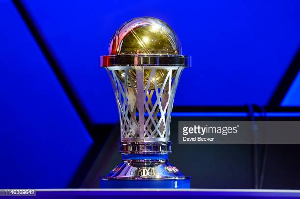 A detail of the championship trophy during the BIG3 Draft at the Luxor Hotel Casino on May 01 2019 in Las Vegas Nevada