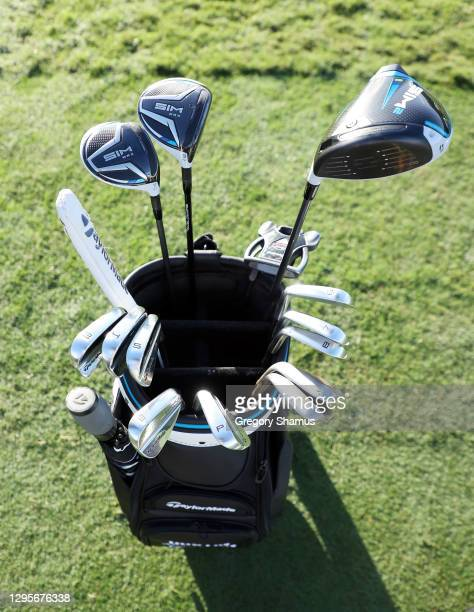 Detail of the clubs and bag of Dustin Johnson of the United States during the final round of the Sentry Tournament Of Champions at the Kapalua...