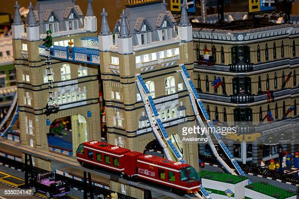 Detail of the constructions with Lego In the San Gregorio Church on december 2015 an exposition of Lego buildings on the occasion of Christmas