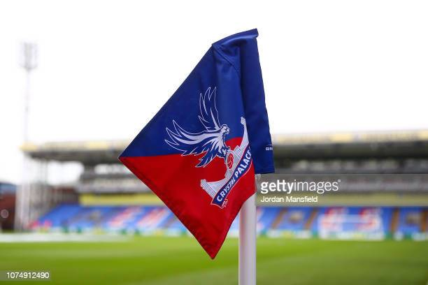 A detail of the corner flag prior to the Premier League match between Crystal Palace and Cardiff City at Selhurst Park on December 26 2018 in London...