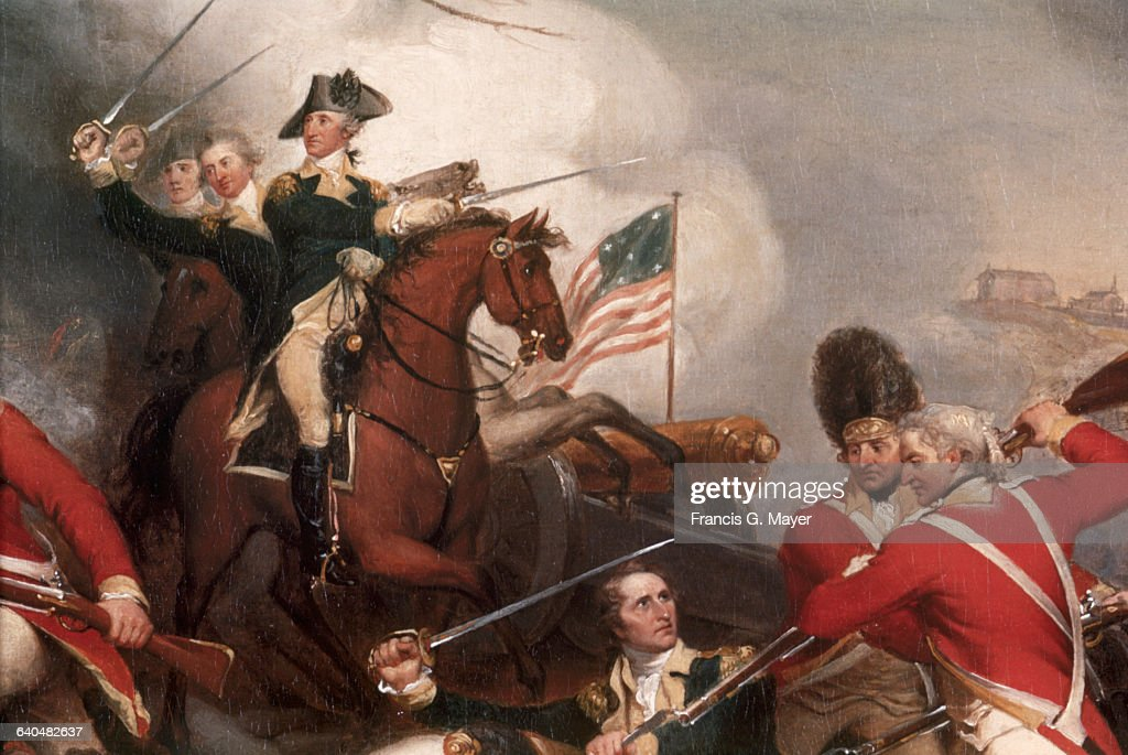 Detail of The Death of General Mercer at the Battle of Princeton, January 3, 1777 by John Trumbull : News Photo