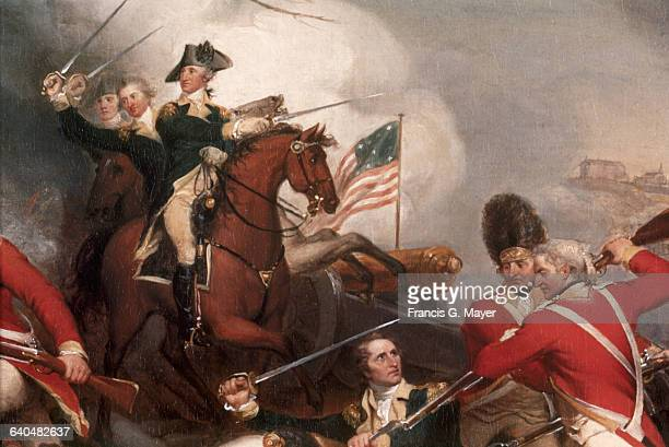 Detail of The Death of General Mercer at the Battle of Princeton January 3 1777 by John Trumbull