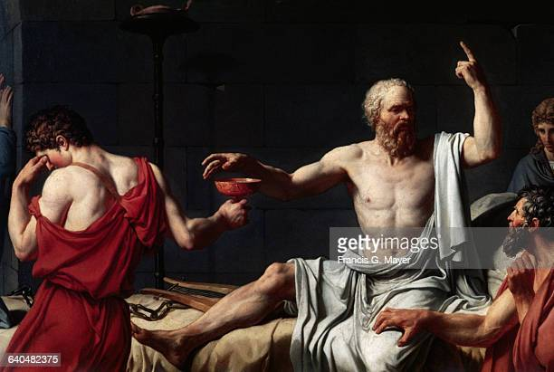 Detail of The Death of Socrates by JacquesLouis David