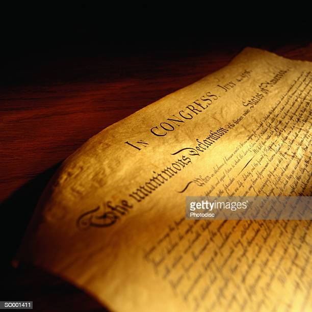 Detail of the Declaration of Independence