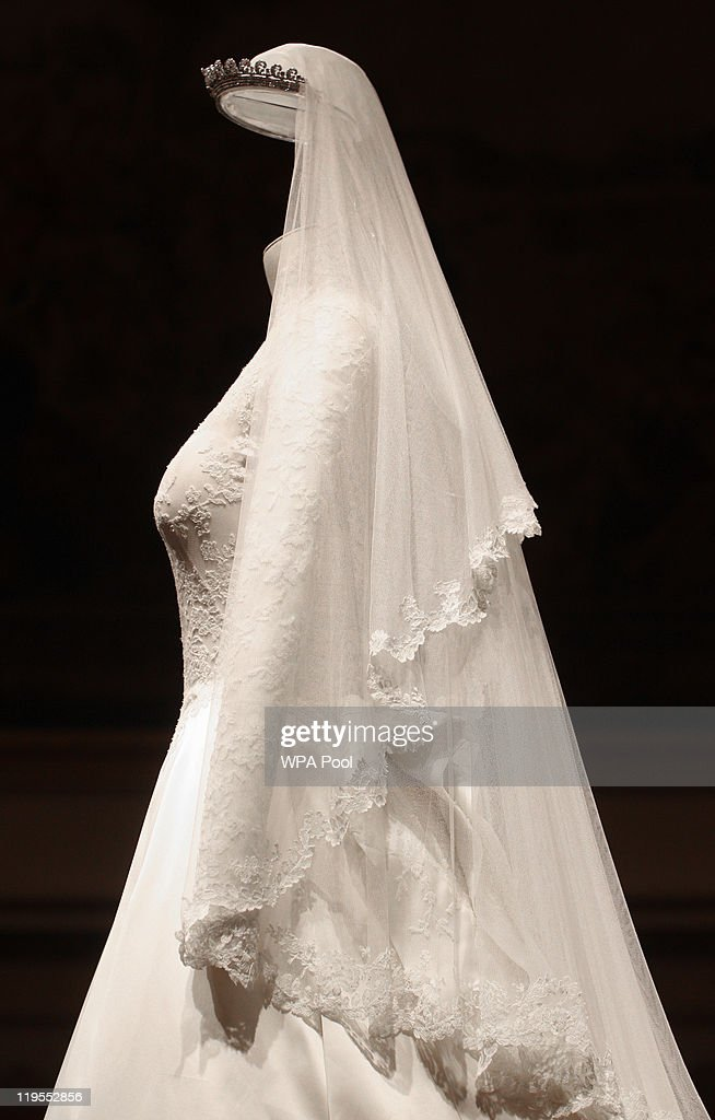 A Detail Of The Duchess Cambridges Wedding Dress Designed By Sarah Burton For Alexander