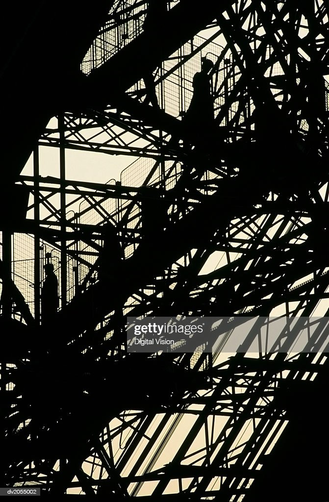 Detail of the Eiffel Tower, Silhouette : Stock Photo