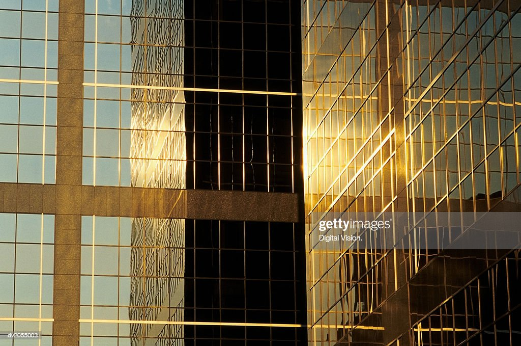 Detail of the Far East Finance Centre, Chinachem Golden Plaza, Hong Kong, China : Stock Photo