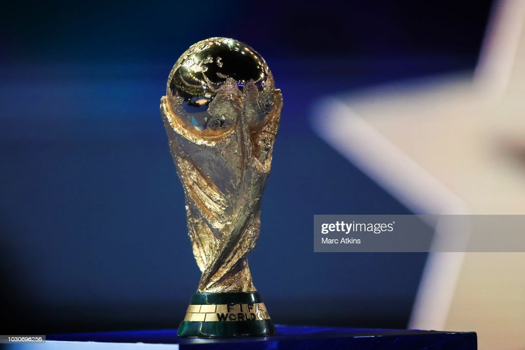 UEFA Detail: Detail Of The FIFA World Cup Trophy During The UEFA