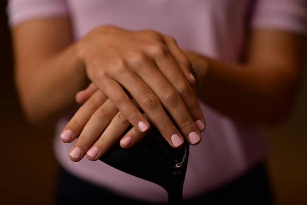 Detail of the finger nails of Klara Spilkova of Czech Republic while she poses for a portrait at the Park Hyatt Aviara Resort on March 27 2019 in...