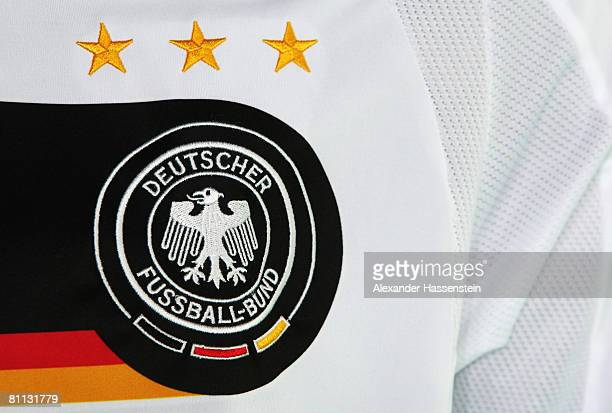 A detail of the German National jersey is seen during the Euro 2008 Squad Announcement at the Zugspitze on May 16 2008 in Grainau Germany