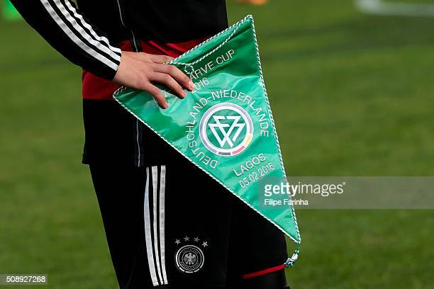 Detail of the German pennant during the UEFA Under17 match between U17 Netherlands v U17 Germany on February 5 2016 in Vila Real de Santo Antonio...