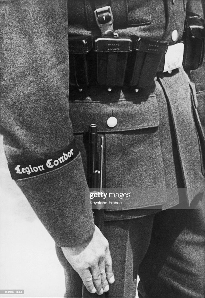 Detail Of The German Uniform Of The Condor Volunteer Unit Which Participated In The Spanish Civil War Alongside Franco'S Nationalist Troops Between 1936 And 1939.