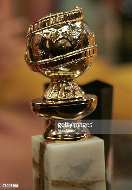 "Detail of the Golden Globe of actress Kyra Sedgwick for the Best Performance by an Actress in a Television Series - Drama award for ""The Closer""..."