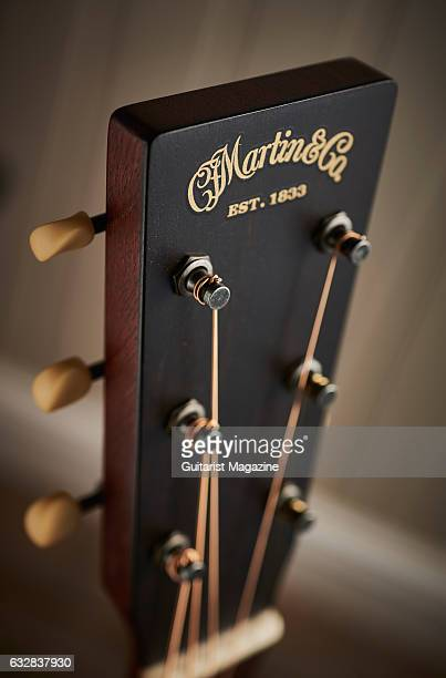 Detail of the headstock on a Martin 17 Series acoustic guitar taken on March 24 2016