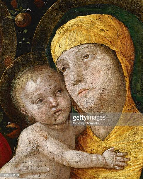 Detail of The Holy Family with Saint Mary Magdalen by Andrea Mantegna