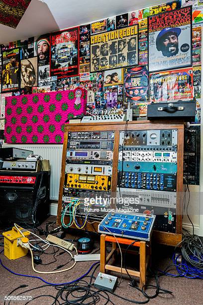 Detail of the home studio belonging to English musician and producer Adrian Sherwood taken on March 23 2015