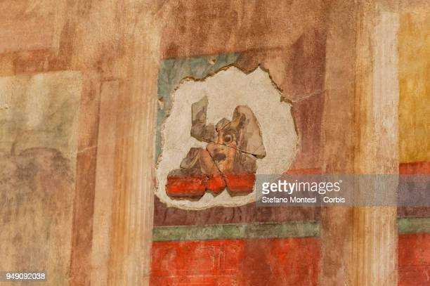 A detail of the house of Augustus on the Palatino Hill in the Ancient Roman Forum on April 20 2018 in Rome Italy Presented to the press the House of...