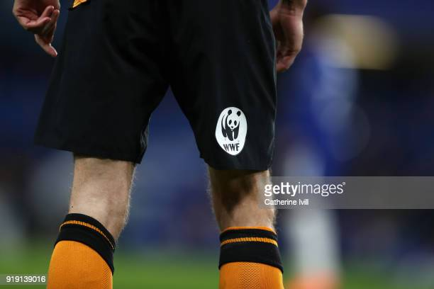 Detail of the Hull City short sponsor during The Emirates FA Cup Fifth Round match between Chelsea and Hull City at Stamford Bridge on February 16,...