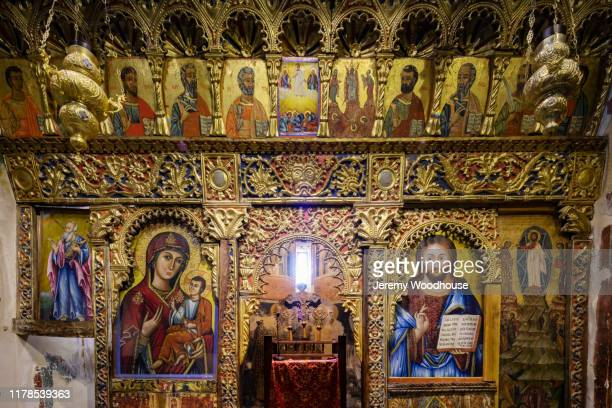 detail of the iconostasis at the transfiguration of the saviour church - jeremy woodhouse stock pictures, royalty-free photos & images