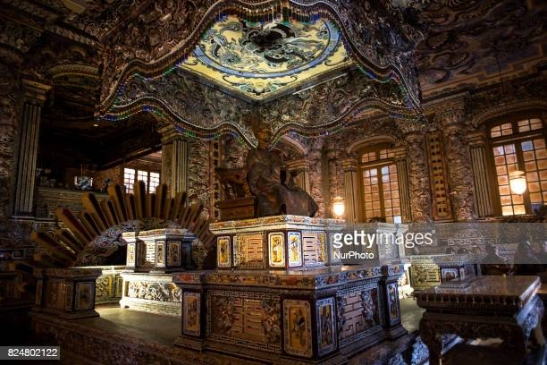 Detail of the Interior of the Imperial Tomb of Khai Thin in Hue City Hue is a city located in the center of Vietnam in the province of Tha ThiênHu It...