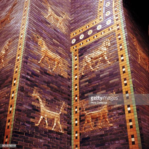Detail of the Ishtar Gate leading to the Ishtar Gate Babylon c604c562 BC In the collection at the Pergamon Museum in Berlin