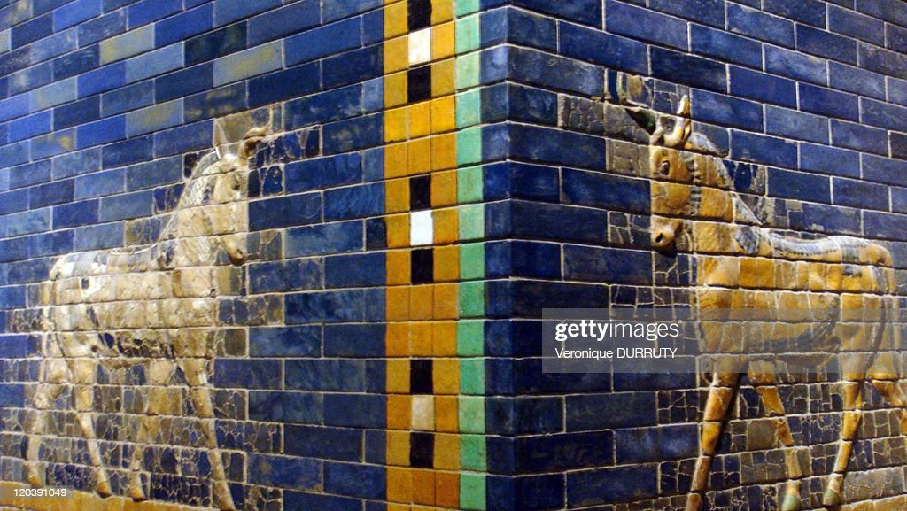 Detail Of The Ishtar Gate, Pergamon Museum In Berlin, Germany In 2009 - : News Photo