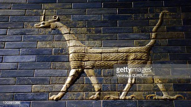 Detail of the Ishtar ghate Pergamon museum in Berlin Germany in 2009 Detail of the Ishtar gate The Ishtar Gate was the eighth gate to the inner city...