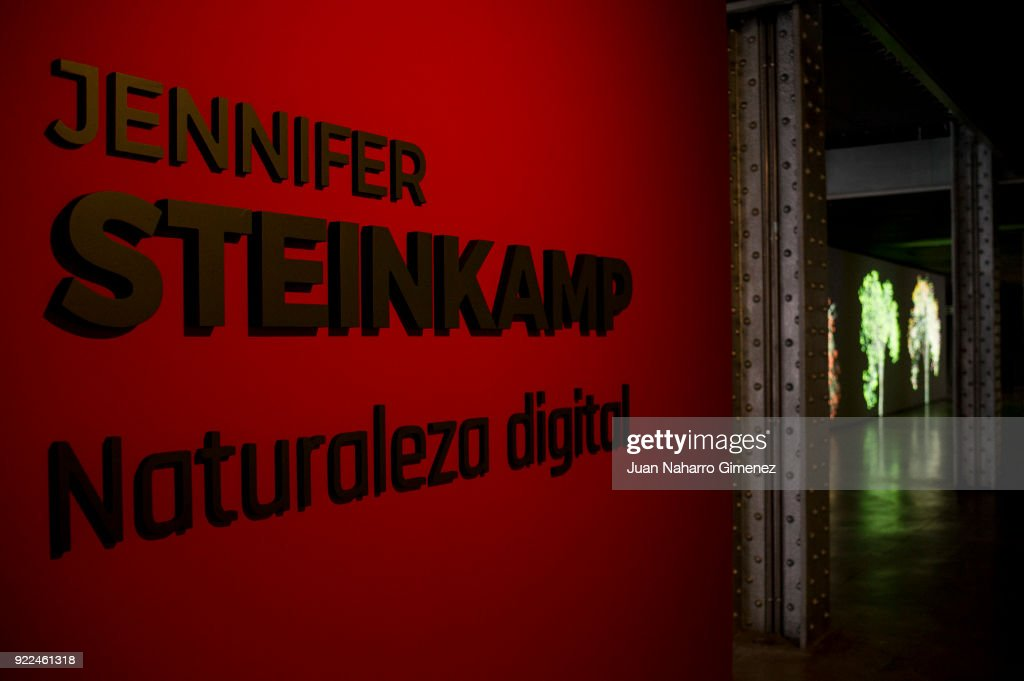 Jennifer Steinkamp Exhibition in Madrid : Nachrichtenfoto
