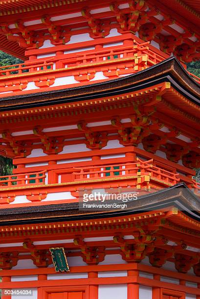detail of the kiyomizu-dera buddhist temple pagoda - kiyomizu dera temple stock photos and pictures