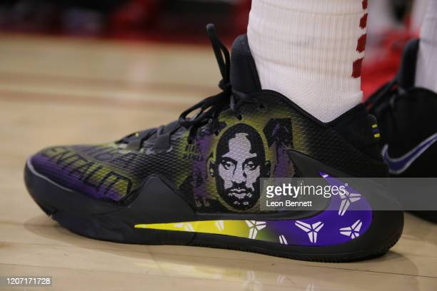 Detail of the Kobe AD by Nike worn by Elijah Weaver of the USC Trojans against the Washington State Cougars during a college basketball game at Galen...